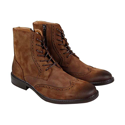 Unlisted by Kenneth Cole Men's Buzzer Fashion Boot, tan, 10.5 M US (Zipper Boot Wingtip)