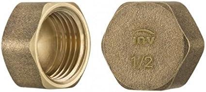 Prise vis de tuyaux en laiton hexagonale femme capuchon de protection dextr/émit/é du tube 1//2 de fil de pouce