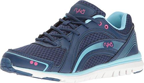 Ryka Womens Aries Walking Shoe Jet Ink Blue Zuma Pink Petit Four Us 9 M