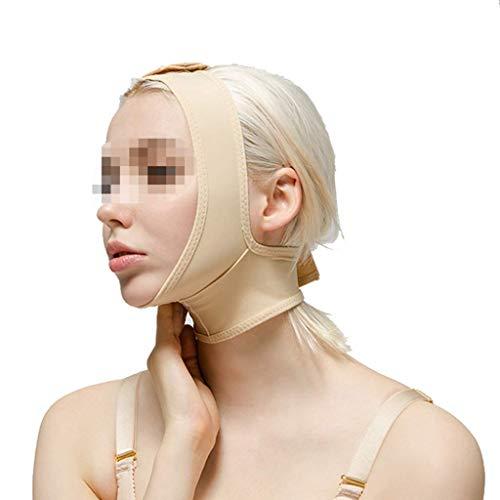 リーン三角形注文術後伸縮性スリーブ、下顎束フェイスバンデージフェイシャルビームダブルチンシンフェイスマスクマルチサイズオプション(サイズ:L),XXL