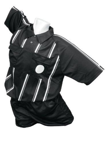 Kwik Goal Premier Referee Jersey, Black, Medium - Sleeveless Soccer Jersey