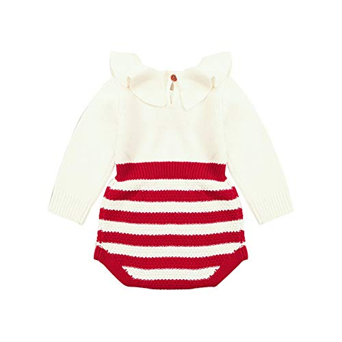 7e77030f256 Weixinbuy Toddler Baby Girls  Boys  Stripe Knitted Warm Romper Bodysuit Jumpsuit  Clothes Outfits