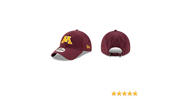best sneakers d6c0d 8380f Amazon.com   Minnesota Golden Gophers New Era Maroon 9Twenty Core Classic  Adult Hat   Sports   Outdoors