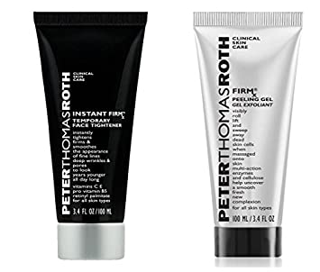 Peter Thomas Roth Cosmetics Instant Firmx Temporary Face Tightener and Firmx Peeling Gel Bundle With Bergamot