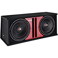 DS18 SLC212X Double 12 1000W Max 4-Ohm Subwoofer in Vented Ported MDF Enclosure-Set of 1