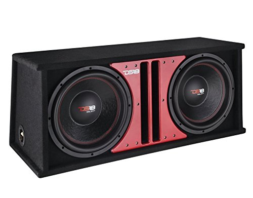 DS18 1000 W 12-Inch 4 Ohm Car Audio Double Sub in Vented Ported Box