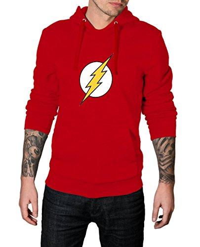 The Flash Costume Hoodie (Super Hero Costume Hoodie Movie Collection - Premium Quality Halloween Hoodie (S, Red - the Flash Logo Hoodie))