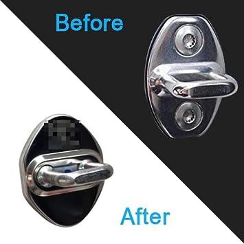 Car Door Lock Cover Protector for Ford Focus Escort Ecosport Car 3M Rubber Liner Black Pack of 4