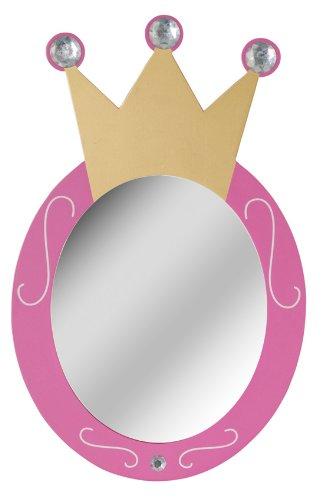 kinderspiegel wandspiegel rosa krone fa 1 4 r madchenzimmer dein spiegel online abo