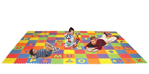Edushape Letters, Numbers, and Puzzles Play Mat Set by Edushape