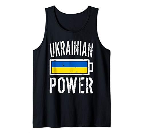 (Ukraine Flag Design | Ukrainian Power Battery Proud Tee Tank Top)