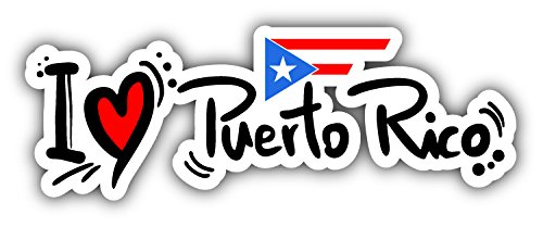 I Love Puerto Rico Car Bumper Sticker Decal 6