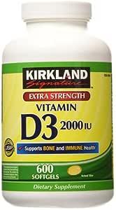 Cápsulas de vitamina D3 Costco 2000 UI Kirkland Signature