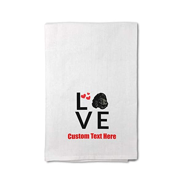 Style In Print Custom Decor Flour Kitchen Towels Love Hearts Irish Water Spaniel Dog Pets Dogs Cleaning Supplies Dish Towels Design Only 1