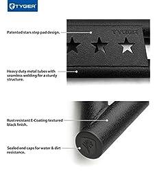 Tyger Auto TG-JA2J2239B Side Step (TYGER Star Armor Kit for 2007-2017 Jeep Wrangler JK 4 Door | Textured Black | | Nerf Bars | Running Boards)