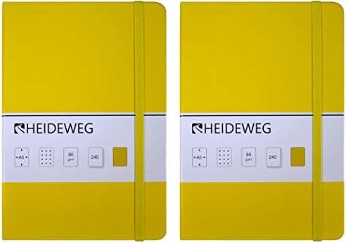 Heideweg Notizbücher A5 dotted, 240 Seiten, Hardcover, Doppelpack (braun+schwarz, 80 g/cm²)