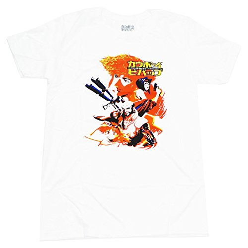 Great Eastern Entertainment Cowboy Bebop Men's Spike & Crew T-Shirt, Large, White