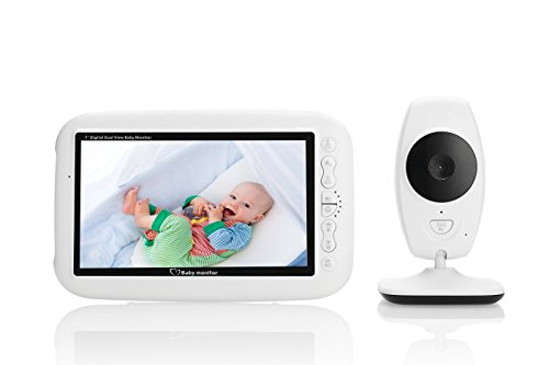 """Baby Monitor, Witmoving Video Baby Monitor kit with 7.0"""" Large LCD Display, Infrared Night Vision Camera, Temperature Sensor, Night Light, Lullabies, 2 Way Talking Support Data Encryption Witmoving"""