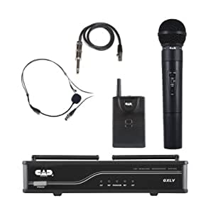 cad audio gxlvhb h vhf wireless combo handheld and bodypack microphone system h. Black Bedroom Furniture Sets. Home Design Ideas