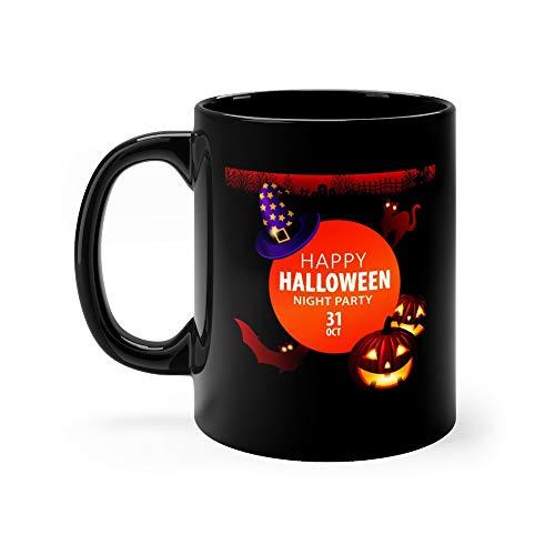 Halloween Night Party Mug 11 Oz Ceramic -