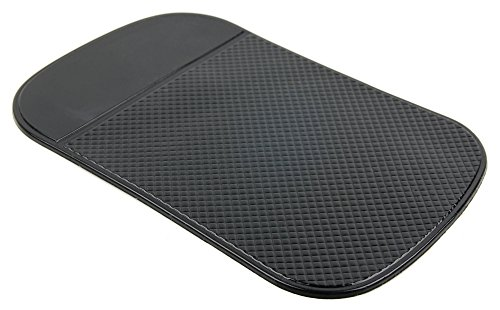 DURAGADGET High-Grade Rubber Anti-Slip Car Dashboard Pad/Mat - Compatible with BlackBerry 9650 Bold GSM Smartphone & BlackBerry Curve 9370 Phone Verizon CDMA + GSM ()