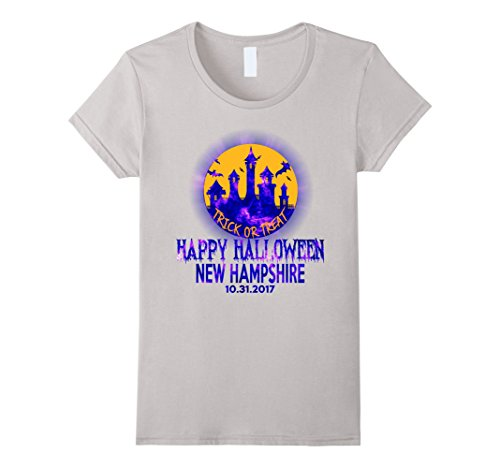 Womens Happy Halloween New Hampshire 2017 T Shirt XL (New Hampshire Halloween 2017)