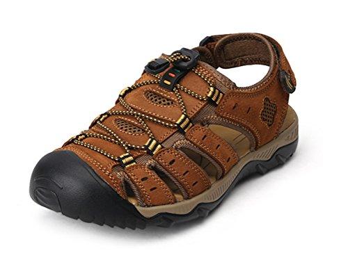 spiaggia Trekking HN PU da Scarpe Light brown Escursionismo passeggio da Pelle da uomo Sportivi Shoes Sandali Sandali pwq0Up