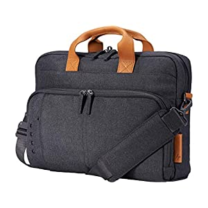 HP Envy Urban 15.6-inch Topload Laptop Briefcase with Shoulder Strap and RFID Blocking Pockets (Gray)