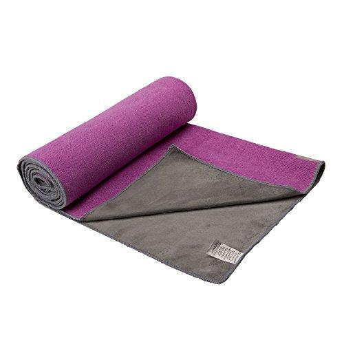 Gaiam Dual-Grip Yoga Mat Towel - Radiant Orchid by Gaiam by Gaiam