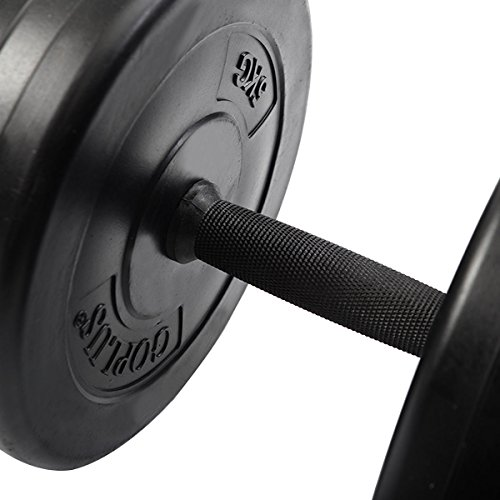 Giantex Adjustable Cap Gym Barbell Plates Body Workout Weight Dumbbell Set 64,44,33lbs (44 LB)