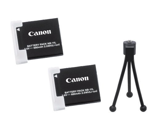 Canon NB-11L 2x Rechargeable 3.6V 680mAh 2.5Wh Lithium-Ion Battery Pack (11l Battery Pack)