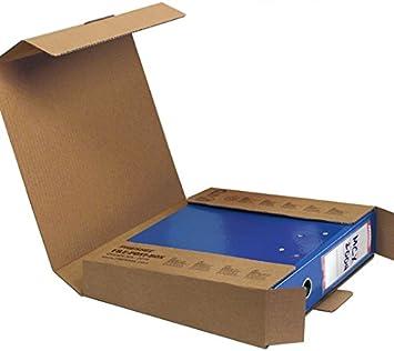 pressel Cajas de Cartón, para 1 archivador 50 mm, cartón ondulado, cierre ranuras, color marrón: Amazon.es: Oficina y papelería