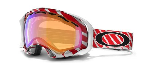Oakley Goggles 57-604 Highlight Red Splice Visor Goggles Size - Oakley White Sunglasses And Red