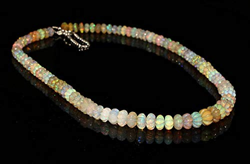 AAA+++Best Quality 13X7 MM To 10X5 MM 53 Cts Faceted Nuggets Necklace Beautiful 100/% Natural Ethiopian Welo Fire Opal New Arrival