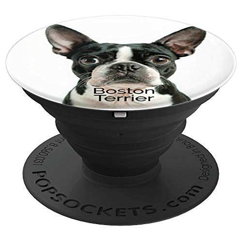Boston Terrier Dog Lover Gift Puppy Chew Toy Dogs Pop Socket - PopSockets Grip and Stand for Phones and Tablets