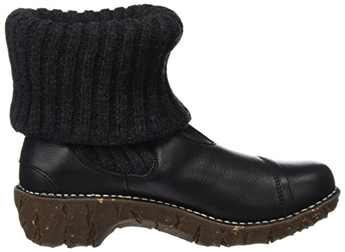 N097 Naturalista Black Soft Boots Yggdrasil Women's El Black Black Ankle Grain 15UCn