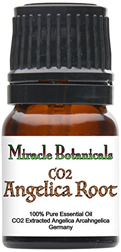 - Miracle Botanicals Organic Angelica Root Essential Oil - CO2 Extracted - 100% Pure Angelica Archangelica - Therapeutic Grade - 2.5ml