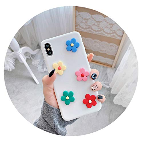 - Phone Case for iPhone Xs Max XR X Cover for iPhone 6 6s 7 8 Plus Fashion INS Floral Pattern Soft Back Cases Capa,White,for iPhoneXSMax