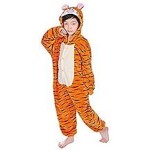 Kids Onesie Pajamas Boys Girls Cosplay One Piece Hoodie Animal Jumpsuit Costume