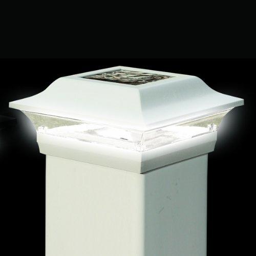 White Aluminum Imperial Solar Post Cap - Size 4x4'' by Mr. Light (Image #1)