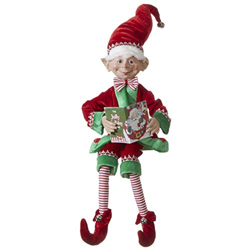 RAZ Imports Posable Christmas Elf, 30
