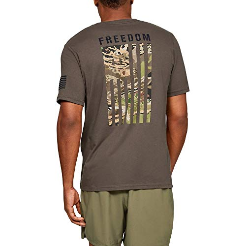 (Under Armour Freedom Flag Camo T-Shirt, Maverick Brown (240)/Desert Sand, X-Large)