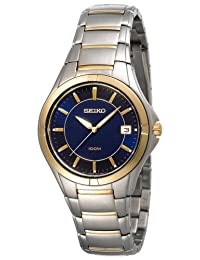 Seiko Men's SGED98 Silver Stainless-Steel Quartz Watch with Blue Dial