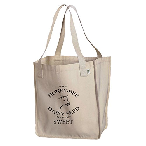 Honey Bee Dairy Feed Organic Cotton Canvas Market Tote Bag -
