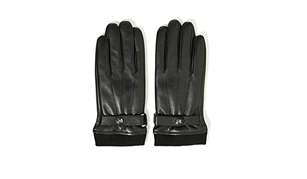 SangZhong Gloves Mens Winter Riding Windproof Cold Plus Velvet Thick Warm Motorcycle Touch Screen Mens Leather Gloves Size : M