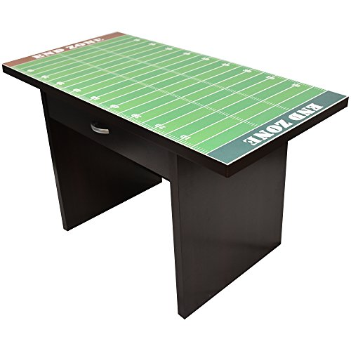 Little Partners Kids Football Fan Desk - Activity Play Table with Sports-Themed Graphics for Playroom, Daycare, Preschool | Durable Wood Construction with Drawer