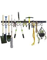 Honeyhouse Verstelbaar opbergsysteem 48/64 inch, garageopslag, tuingereedschaphouder, tuingereedschap-organizer, wandhouder, gereedschap-organizer, garageorganizer