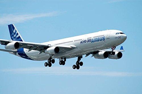 Airbus A340-300 prepares for landing at Le Bourget Airport Paris France Poster Print by Riccardo NiccoliStocktrek Images (17 x 11)
