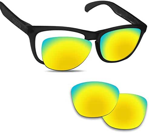 Fiskr Anti-saltwater Replacement Lenses for Oakley Frogskins Sunglasses - Various Colors