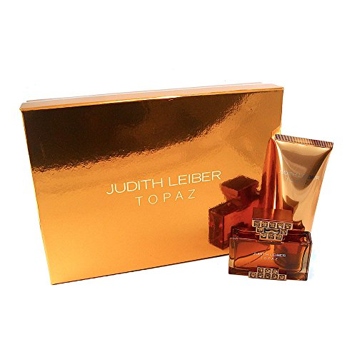JUDITH LEIBER Two Piece Gift Set with Eau de Parfum Spray and Body Lotion, Topaz, 1.25 lb. ()